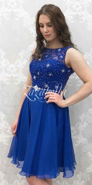 Juhlamekko H3174S royal blue