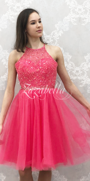 Juhlamekko H3491S candy pink tylli