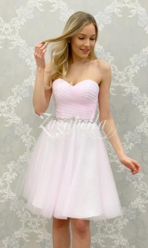 Juhlamekko H3082S-pleats pink
