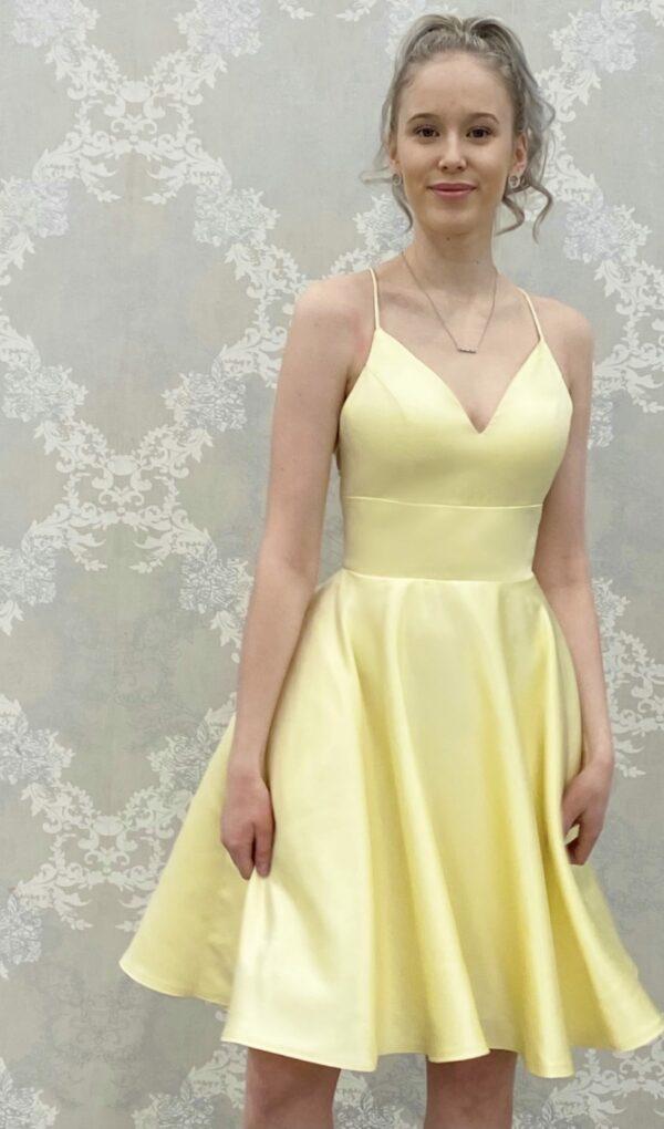 Juhlamekko H4370SS yellow