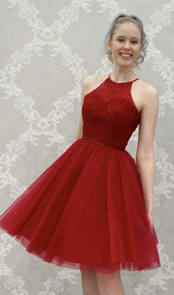 Juhlamekko H3491S dark red