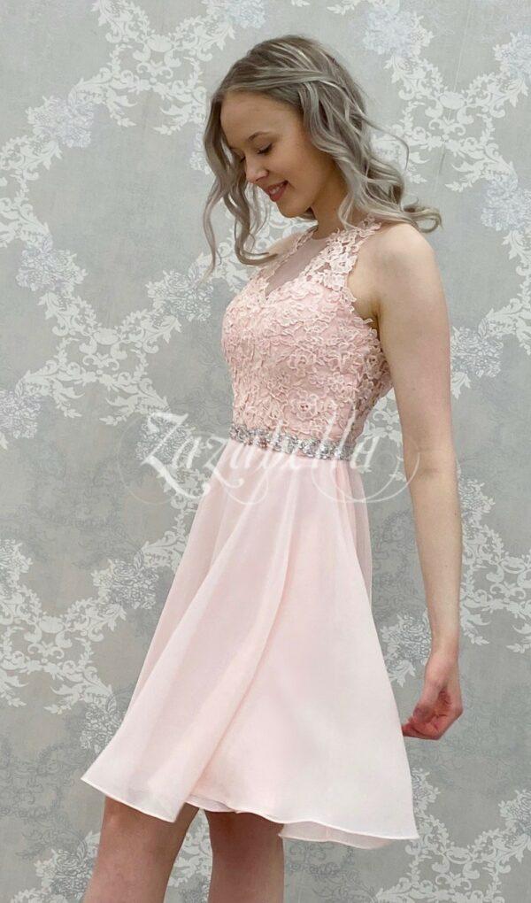Juhlamekko H3460S-CHIFFON pink