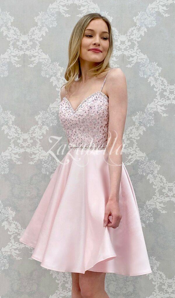 Juhlamekko H4277S-SATIN pink
